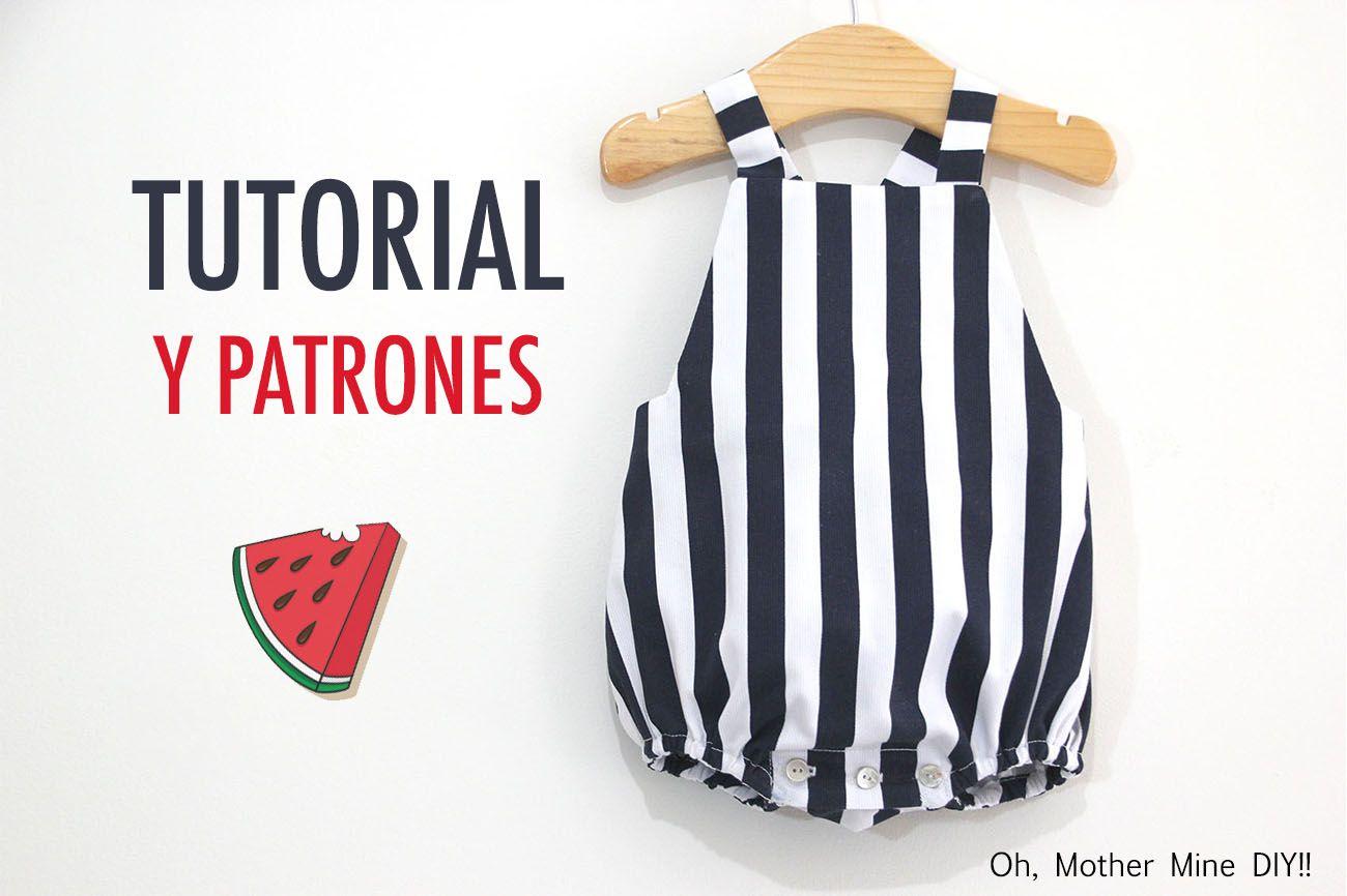 DIY Coser Peto Marinero para bebe (patrones gratis) | Kid\'s Wear ...