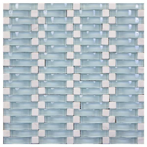 Wavy 3d Glass Mosaic Lite Blue Carrara 12x12 Mosaic Glass Mosaic Glass