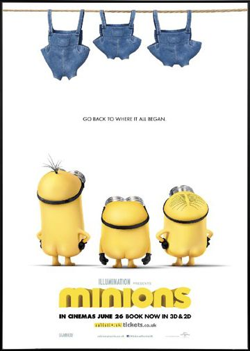 Minions Animation 3D Poster