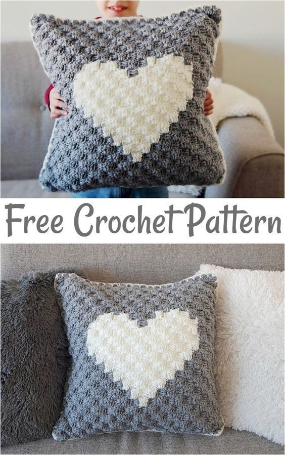 crochet pillow patterns,Sweetheart Crochet Pillow Cover-These free crochet pillows have a great