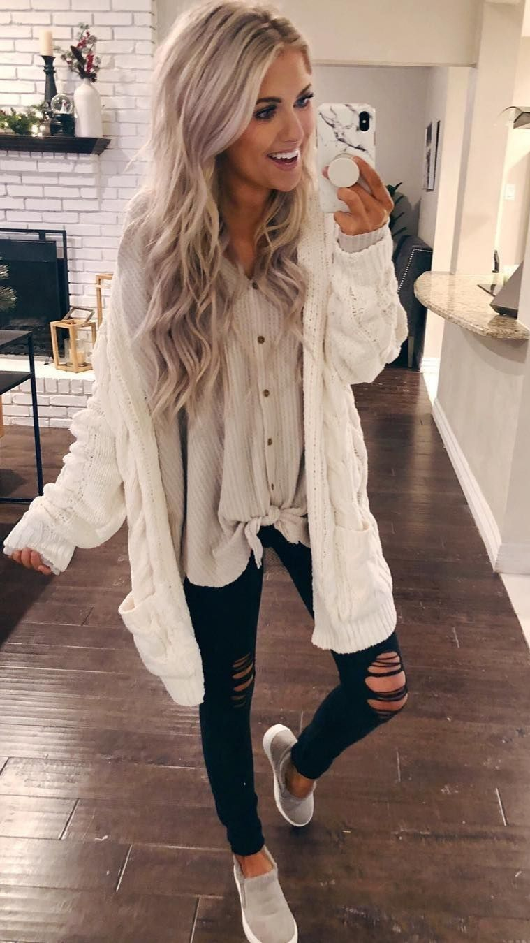 Cute Casual Fall Outfits Combinations 2019 - FashionOutfits