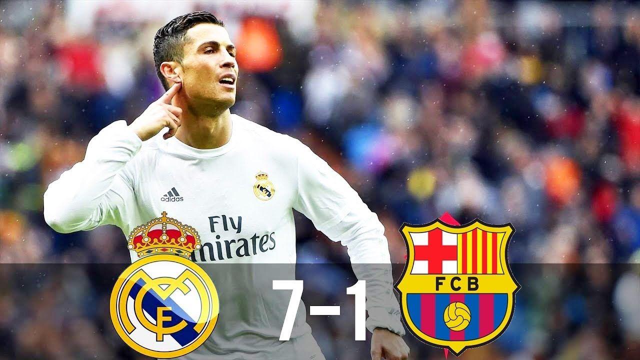 اكبر خسارة لبرشلونة على يد ريال مدريد في عهد كرستيانو رونالدو 7 1 Cristiano Ronaldo Wallpapers Ronaldo Wallpapers Cristiano Ronaldo