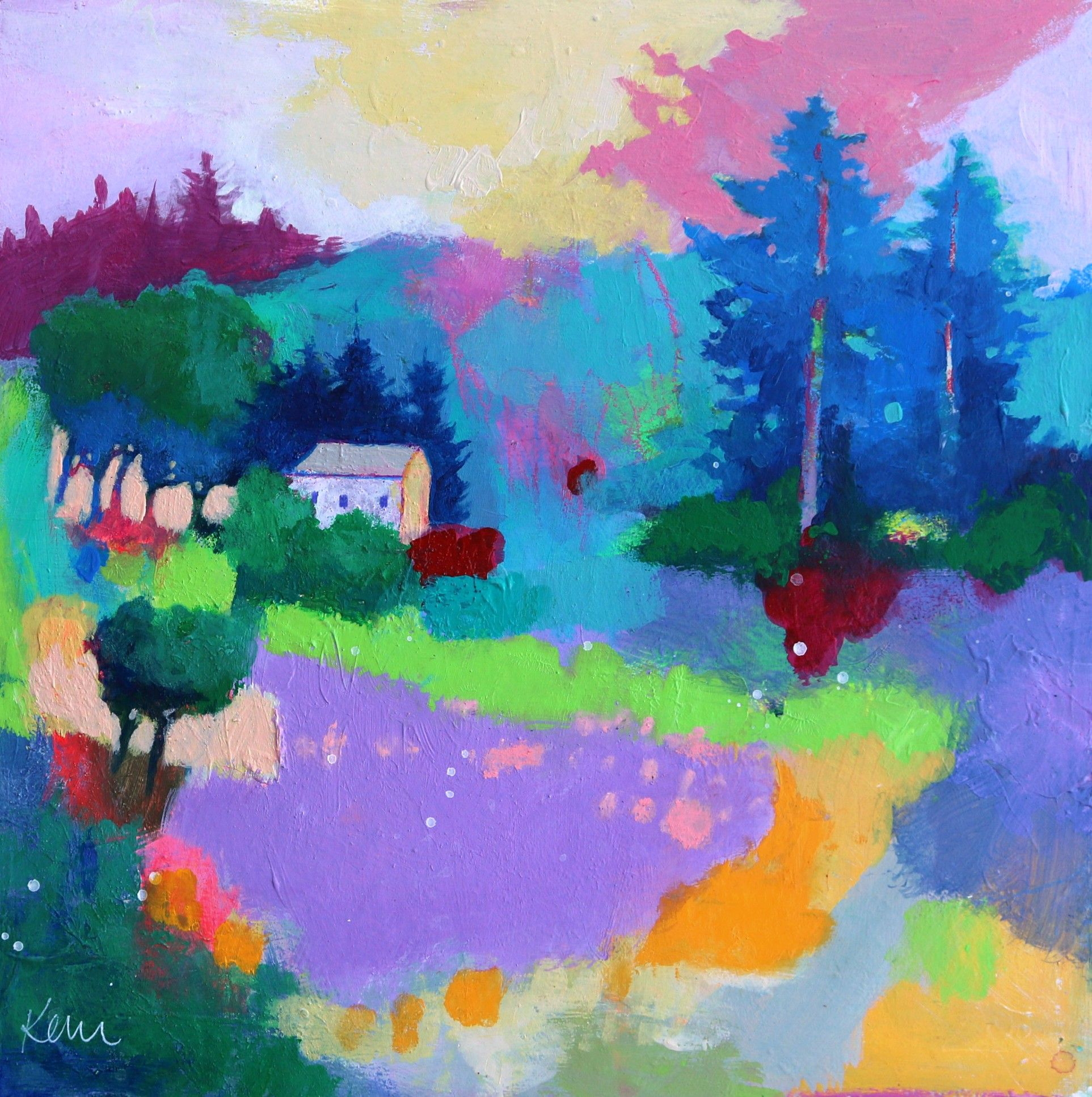 Keeping The Peace In 2020 Abstract Landscape Painting Abstract Landscape Painting