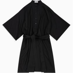 Calvin Klein Gürtelkleid aus Flanell aus Wollgemisch 34 Calvin Klein