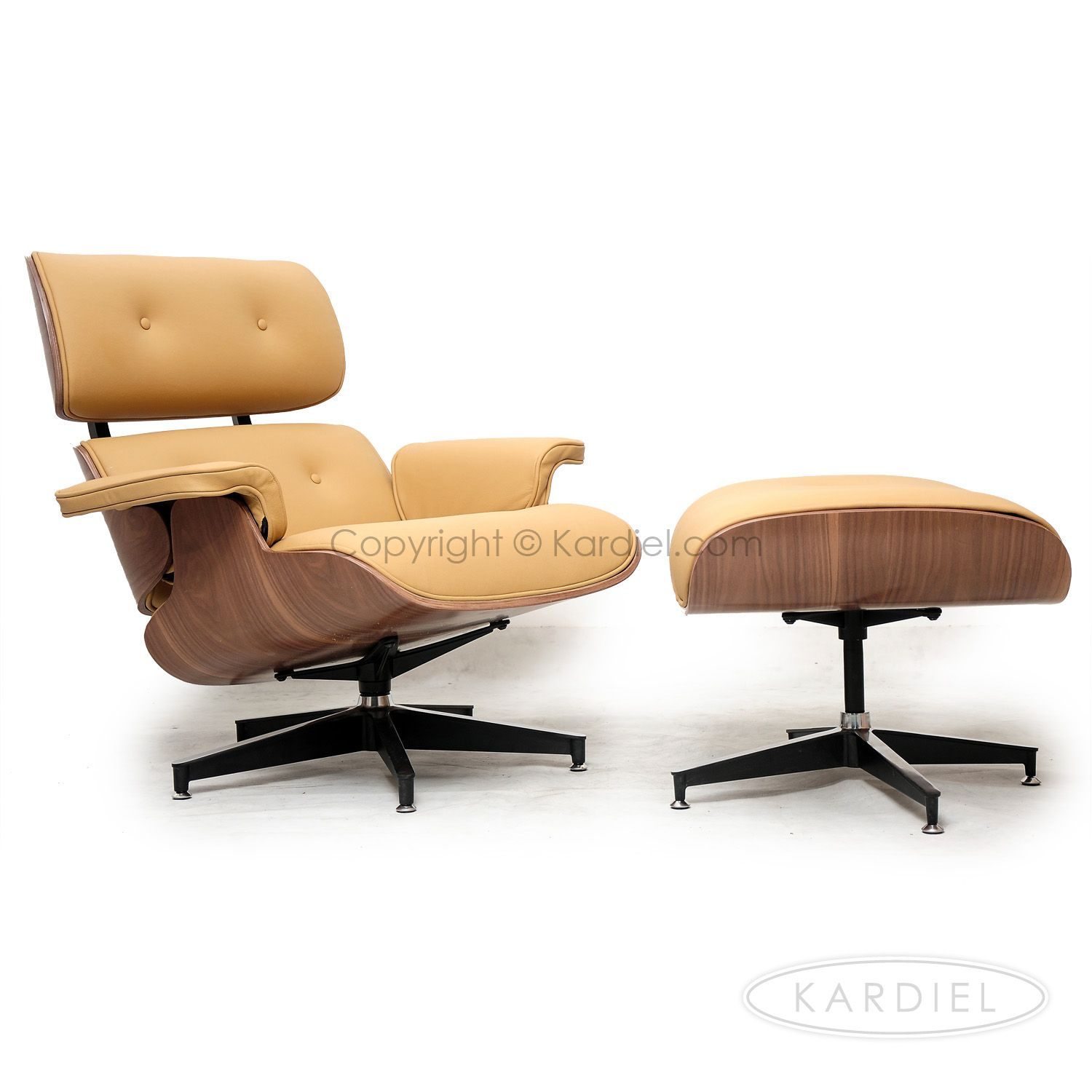 Great Plywood Lounge Chair U0026 Ottoman, Oxford Fawn Standard Leather/Walnut |