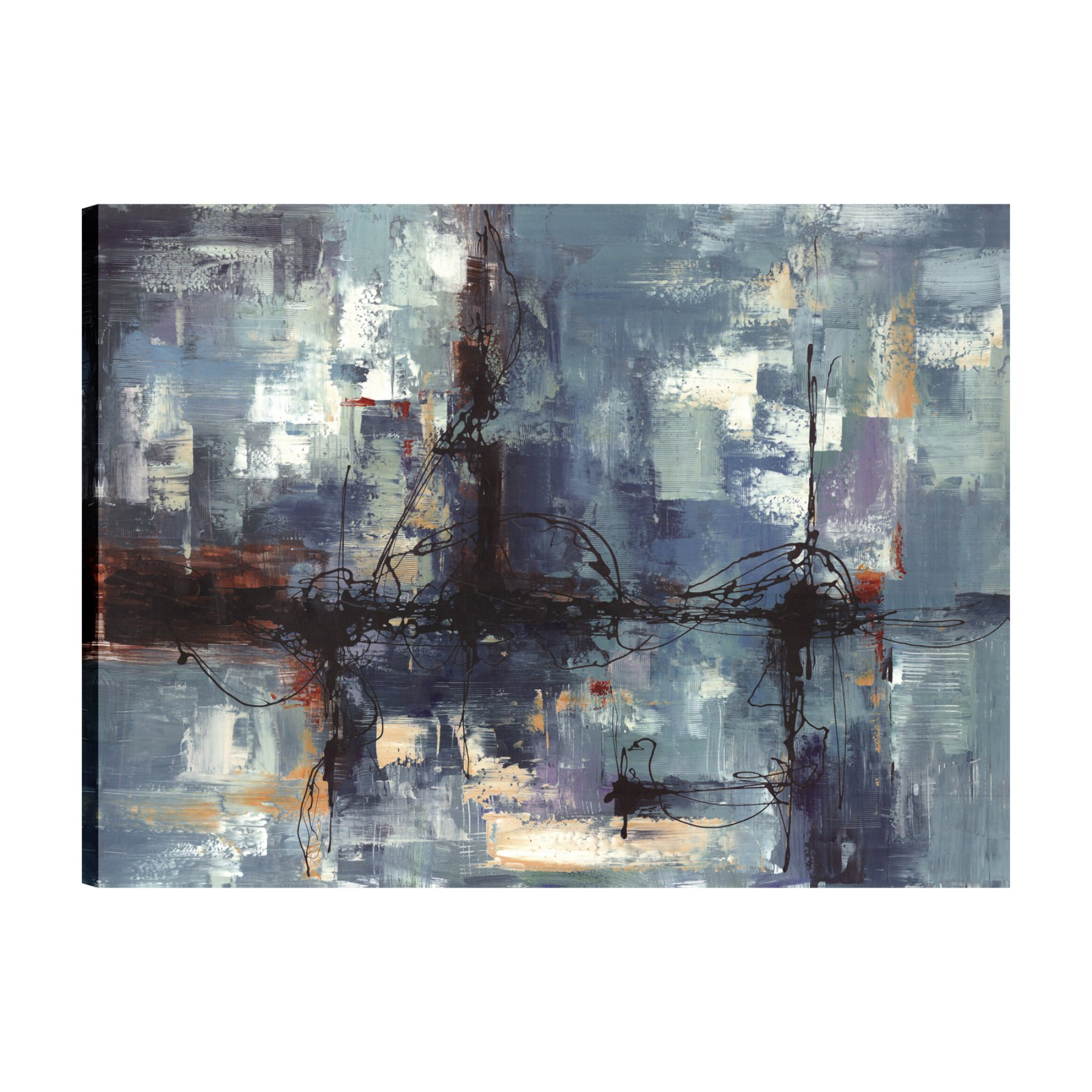 ArtMaison Canada Colorful Blue Abstract II Wall Art