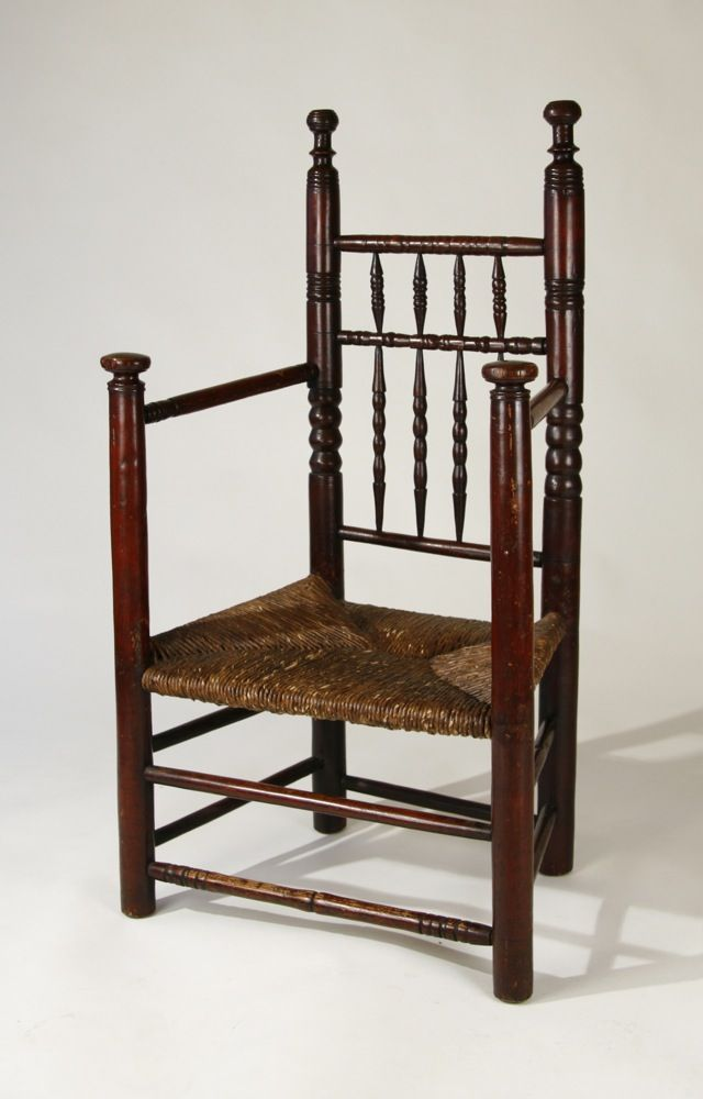 Antique carver chair...ca. 1690...Massachusetts...ball turnings on black  posts - Antique Carver Chair...ca. 1690...Massachusetts...ball Turnings On