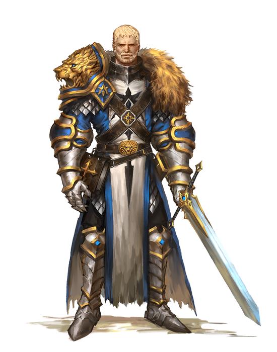 Human Male Paladin Knight - Pathfinder PFRPG DND D&D d20 fantasy | Fantasy character design ...