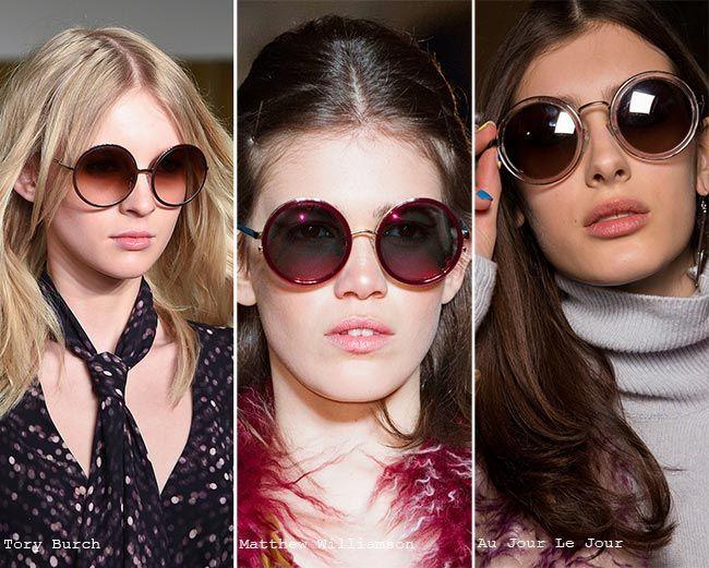 a24ee32a9 Fall/ Winter 2015-2016 Eyewear Trends: Round Sunglasses #eyewear #sunglasses  #trends