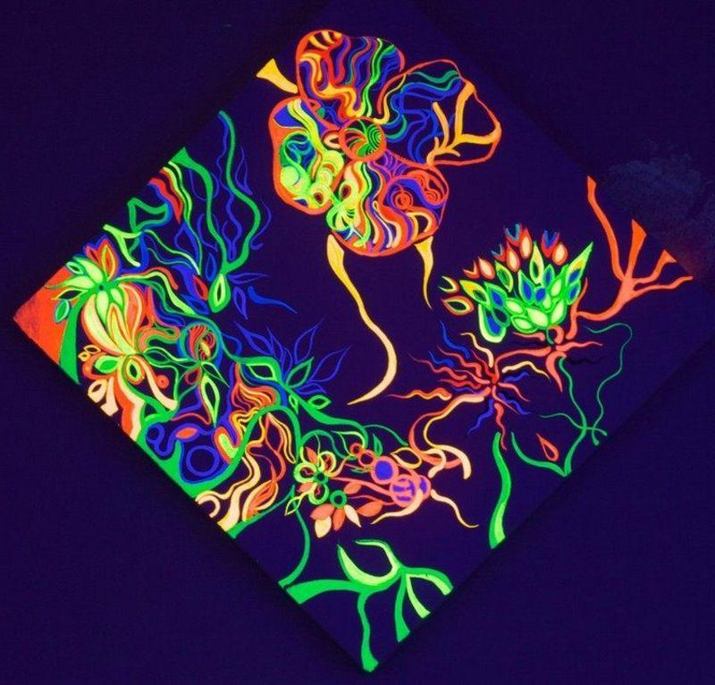 Fluoreszierende Farbe Sternenhimmel
