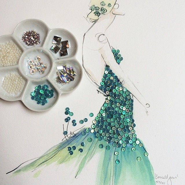 Photo of Fashion illustrations by Katie Rodgers | Masters Fair Magazine