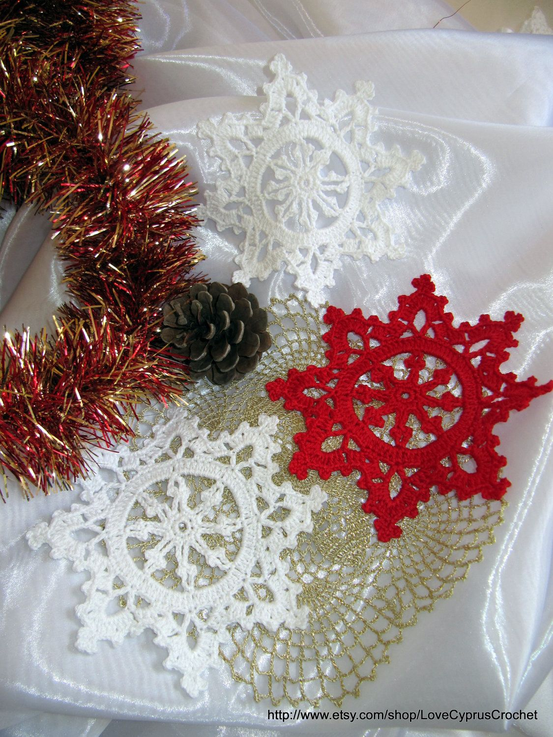 Crochet Snowflakes Christmas Decorations 3 by LoveCyprusCrochet ...