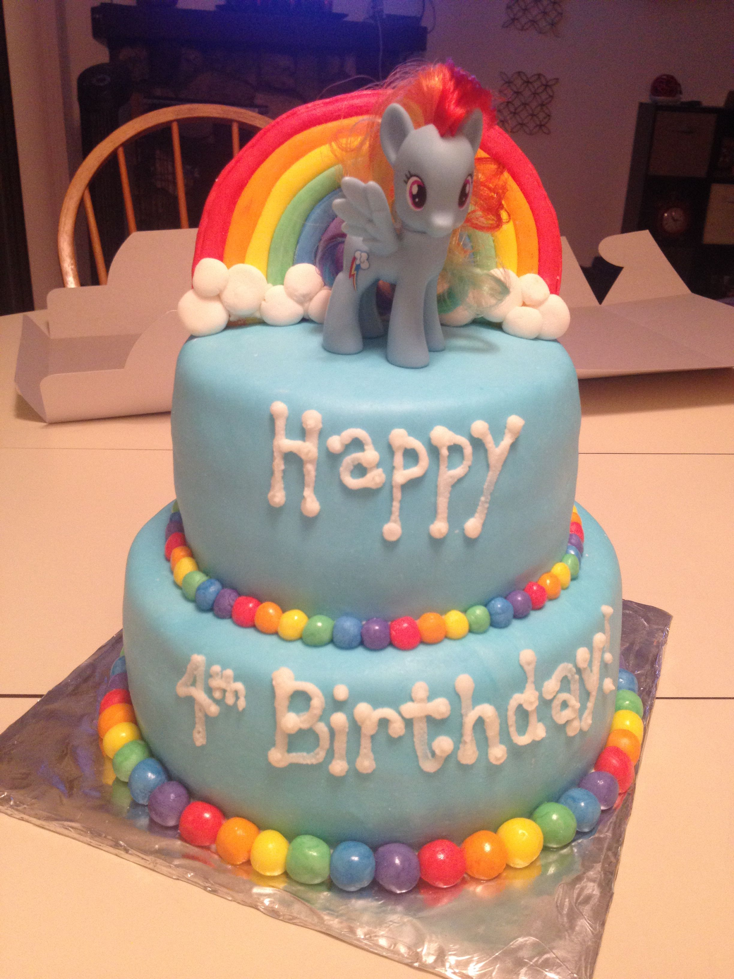 Outstanding My Little Pony Cake Rainbow Dash Cake I Like The Colored Balls Funny Birthday Cards Online Eattedamsfinfo