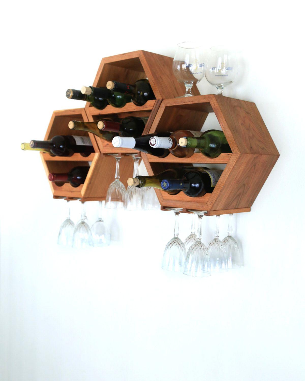 Hanging wine rack wood wine rack wine storage modern wine rack