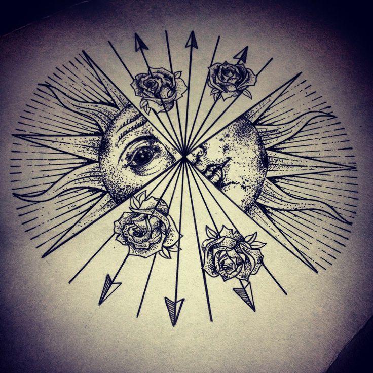 Sun old illustration tattoos Pinterest Sun tattoos