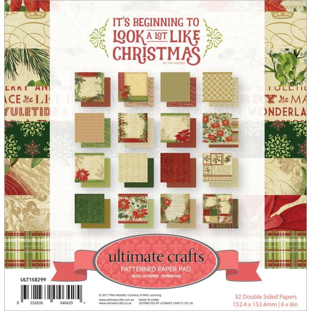 Christmas Paper Pad 6 X 6 Christmas Card Stock Vintage Christmas