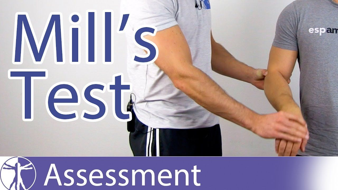Watch This Video To Learn About The Mill 39 S Test For Lateral Epicondylitis Or Tennis Elbow Useful Links Below Please Like Tennis Elbow Tennis Tennis Drills