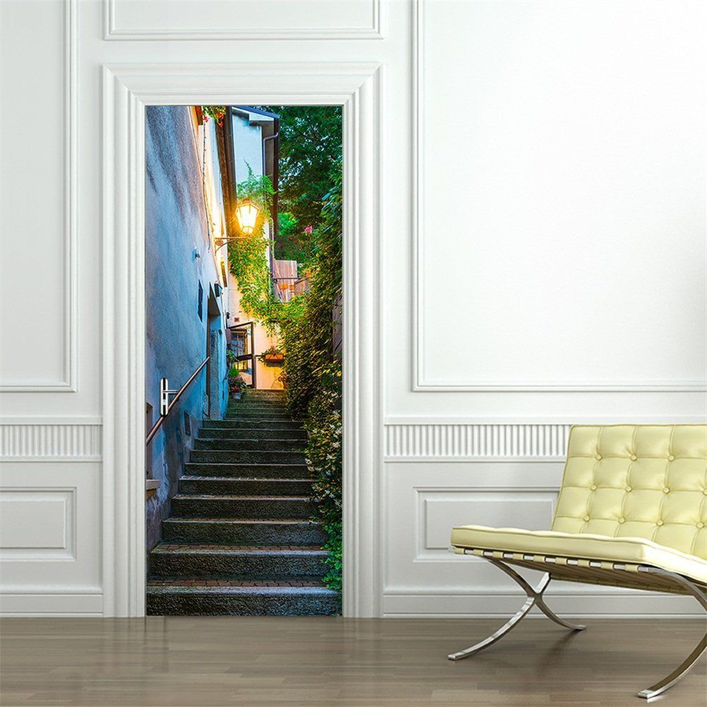 Wall Mural Door Stickers Home Decor Removable 3D Fridge Decals Personality