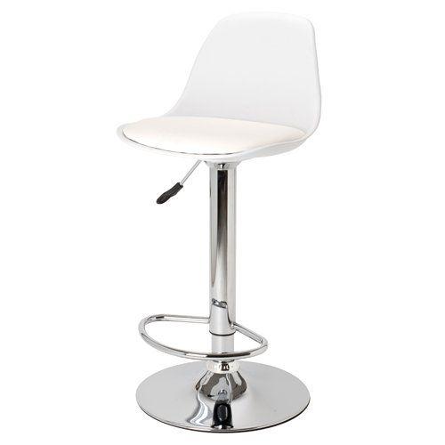 la chaise longue chaise haute de bar blanche egg réf 31-m1-010w ... - Chaise De Bar Blanche