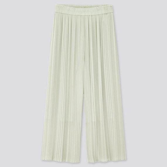 シフォン プリーツ スカート パンツ