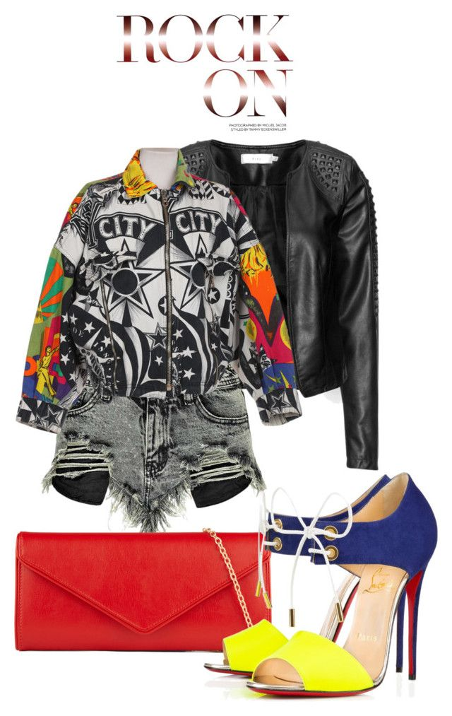"""""""Untitled #54"""" by aantunes921 on Polyvore featuring Zizzi, Boohoo, Versace, ALDO and Christian Louboutin"""
