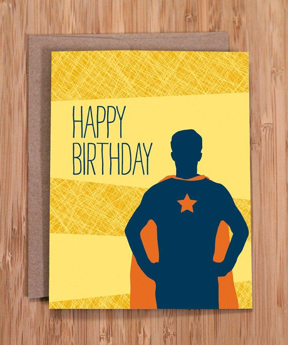 Funny Birthday Card Super Guy For Him