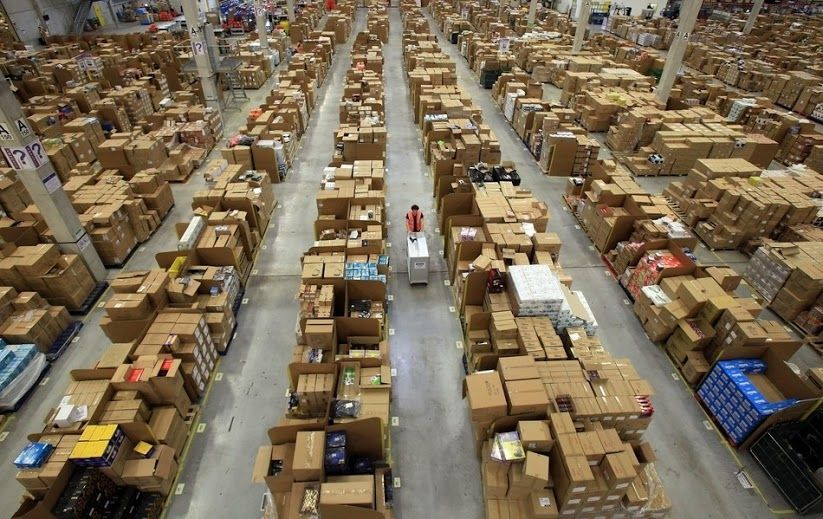 What It Looks Like Inside Amazon Warehouse Amazon Self Storage