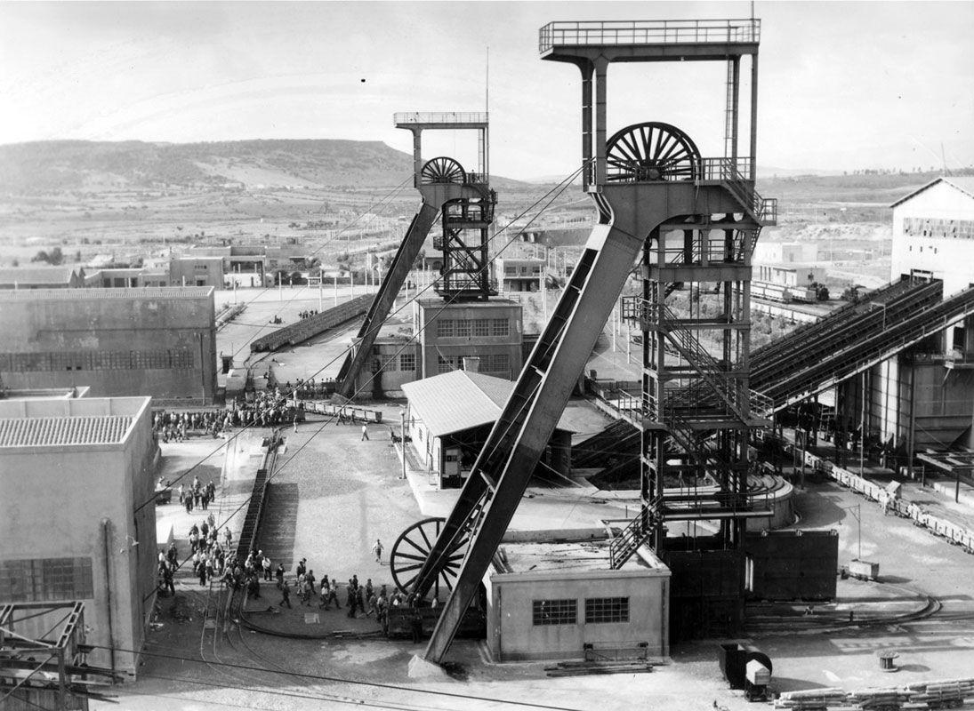 Serbariu Coal Mine in the past in Carbonia, Sardegna. The