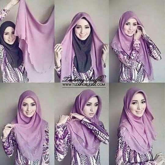 Tutorial Hijab Hijab Tutorial Tutorial Hijab Segitiga How To Wear Hijab