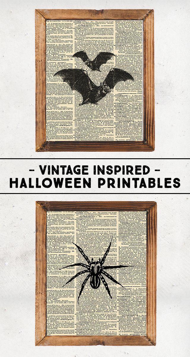 Vintage Inspired Halloween Printables Halloween diy, Holidays - halloween decoration printables