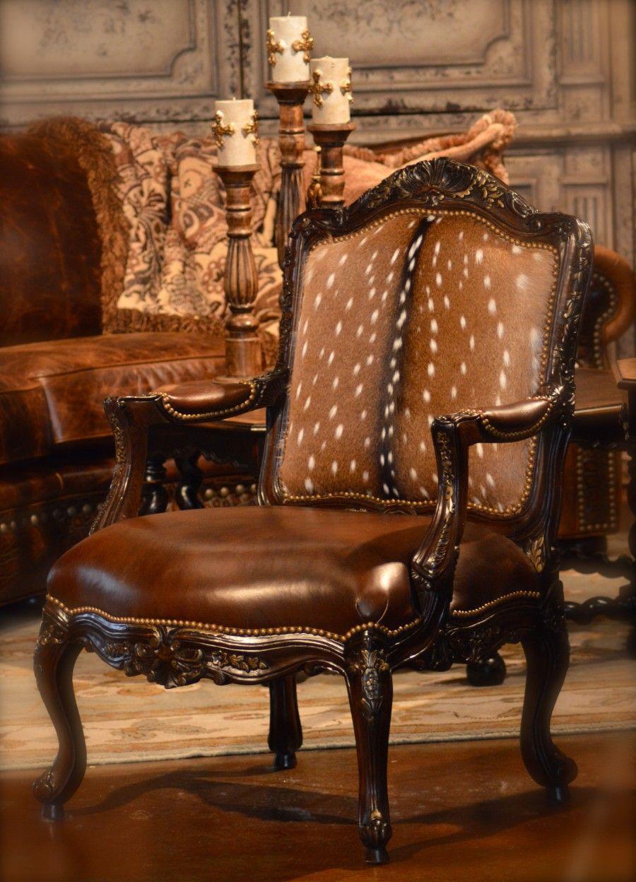 Superb Deer Hide Chair, Very Franz Ferdinand.