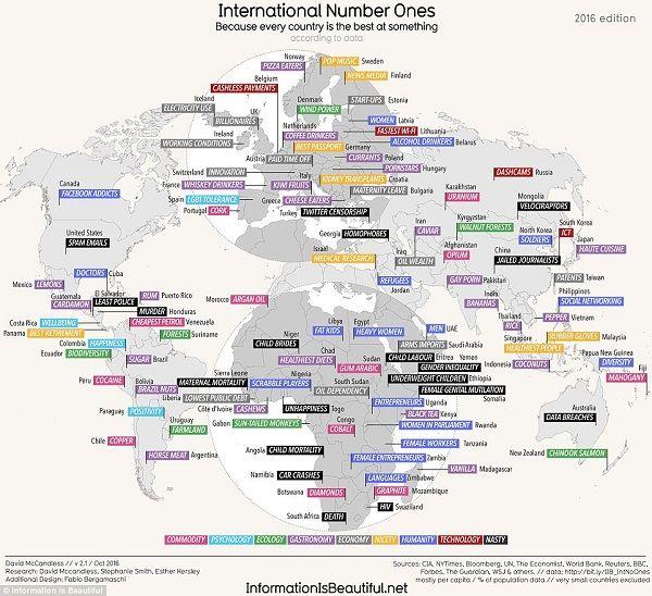 Guarda la versione ingrandita di Mappa primati mondiali: wifi più ...