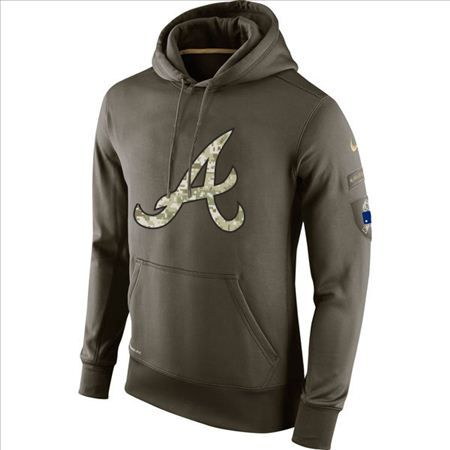 timeless design a5fec abeb1 Men's Atlanta Braves Nike Olive Salute To Service KO ...