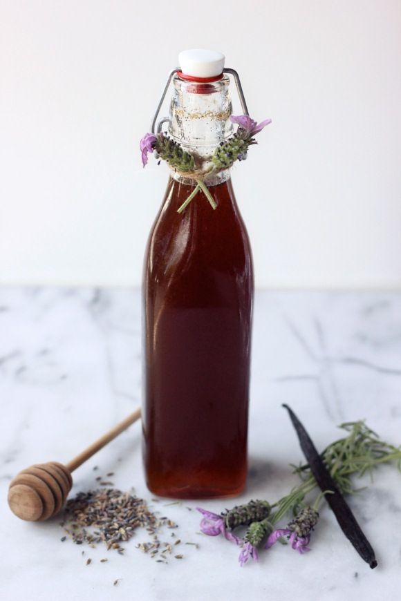 Sweet! Honey Lavender Vanilla Bean Simple Syrup | Recipe via Free People Blog #freepeople