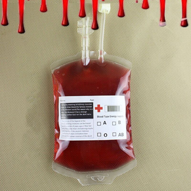 300ML Clear Reusable Blood Energy Drink Bag Halloween Cosplay