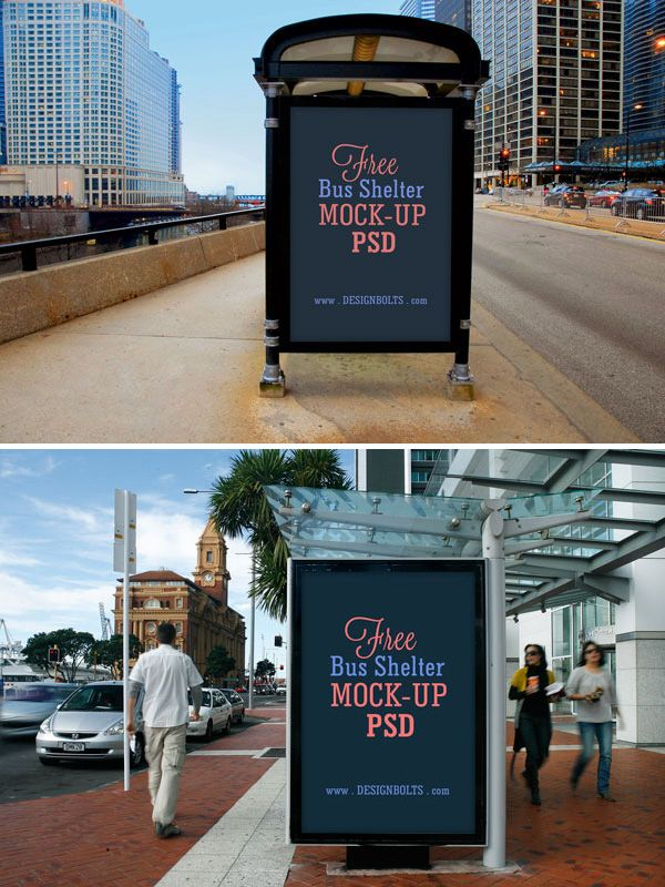 140 poster mockups free premium pinterest bus shelters