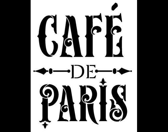 Café de Paris Word Art pochoir - victorien Vintage - sélectionnez