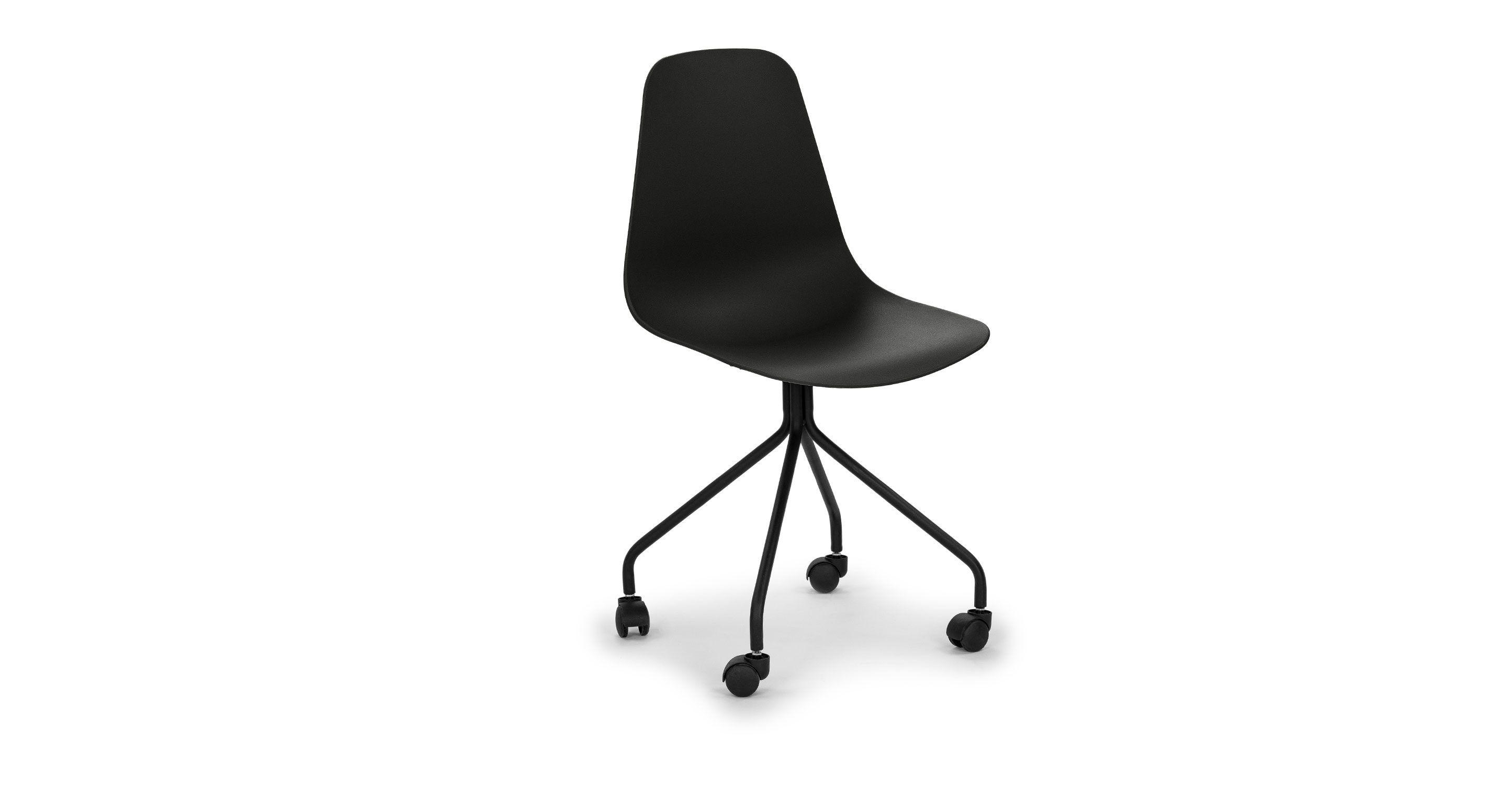 Svelti Pure Black Office Chair Chairs Article Modern Mid Century And Scandinavian Modern Office Chair Black Office Chair Mid Century Modern Office Chair