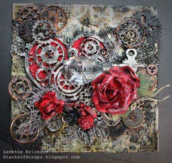 Steampunk Heart Canvas Created by Lanette Erickson Art Anthology | Where Art Begins