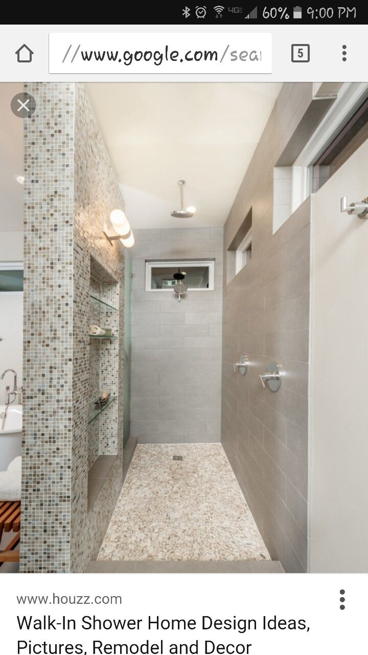 Walk In Shower Houzz With Images Showers Without Doors