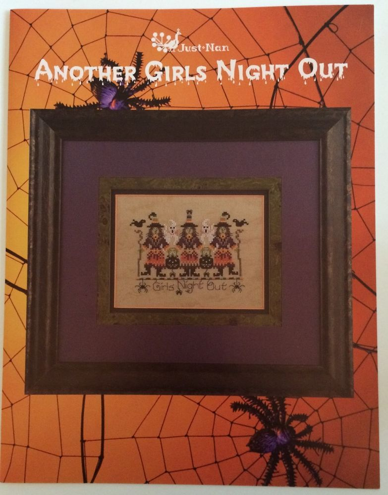 Another Girls Night Out Halloween Cross Stitch Pattern 3 Witches ...