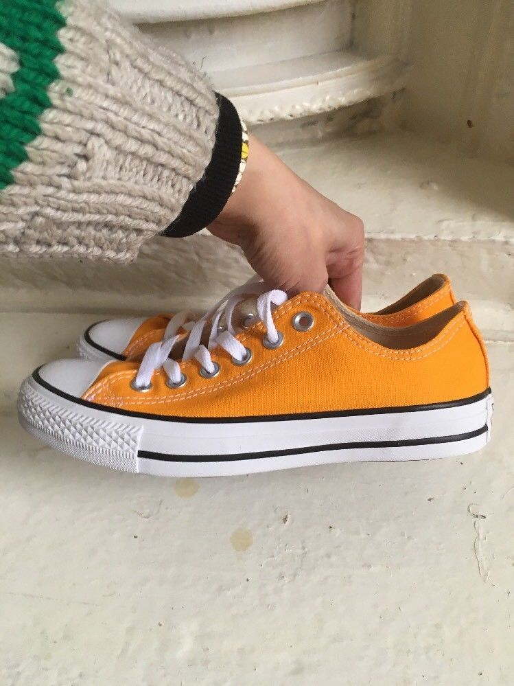 39d8d5a4f2164f Converse Orange Mustard Yellow Size Uk 5 Shoes 38 7 Chuck Taylor All Star  Ox Low