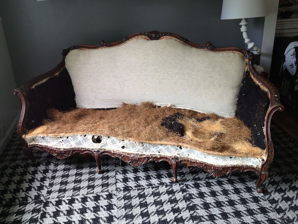 horse sofa slipcovers 3 seater chenille throws vintage filled with hair home projects