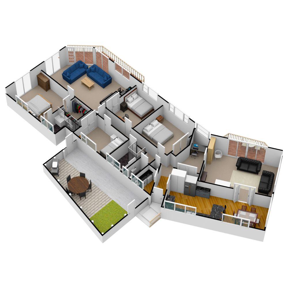 Nice 3d Dollhouse View Made On Www Floorplanner Com Create Floor Plan Floor Plans Apartment Layout