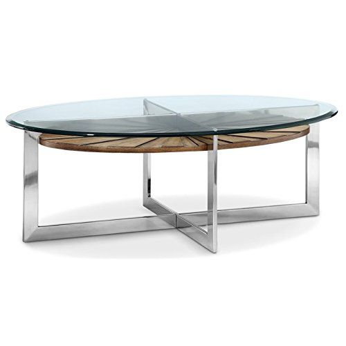 Delicieux Magnussen T3805 47 Rialto T3805 Rialto Contemporary Brushed Nickel Oval Coffee  Table