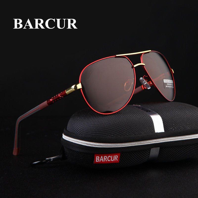 5971e7d50a BARCUR Aluminum Magnesium Men s Sunglasses Polarized Men Coating Mirror  Glas.