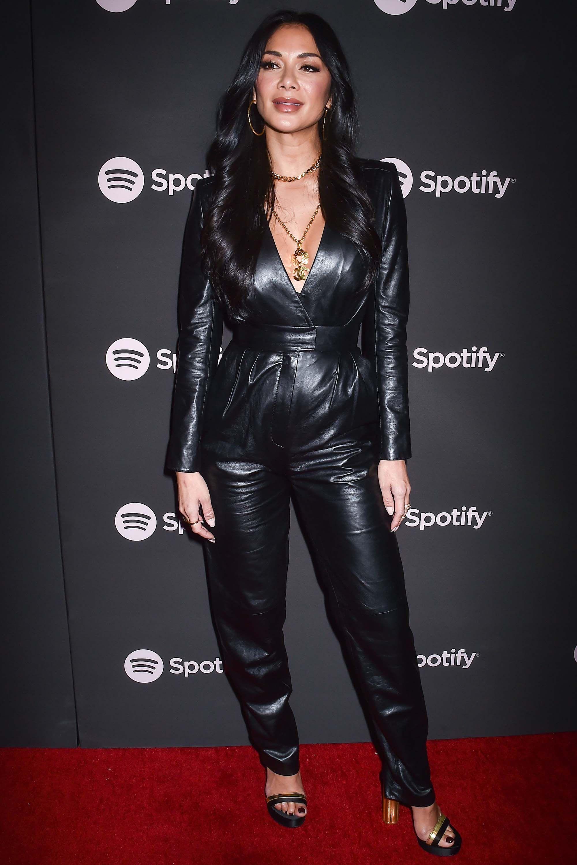 Nicole Scherzinger Buzz🔴 Leather dress women, Leather
