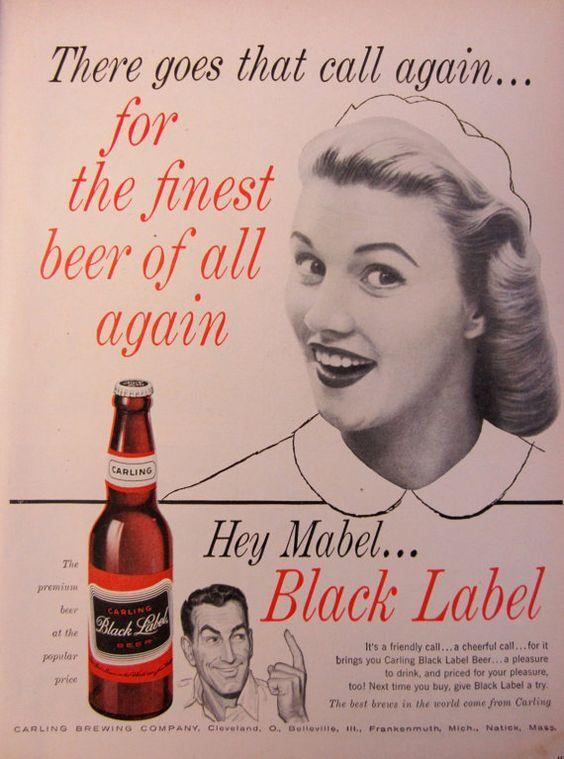 Carling Black label vintage beer poster reproduction.