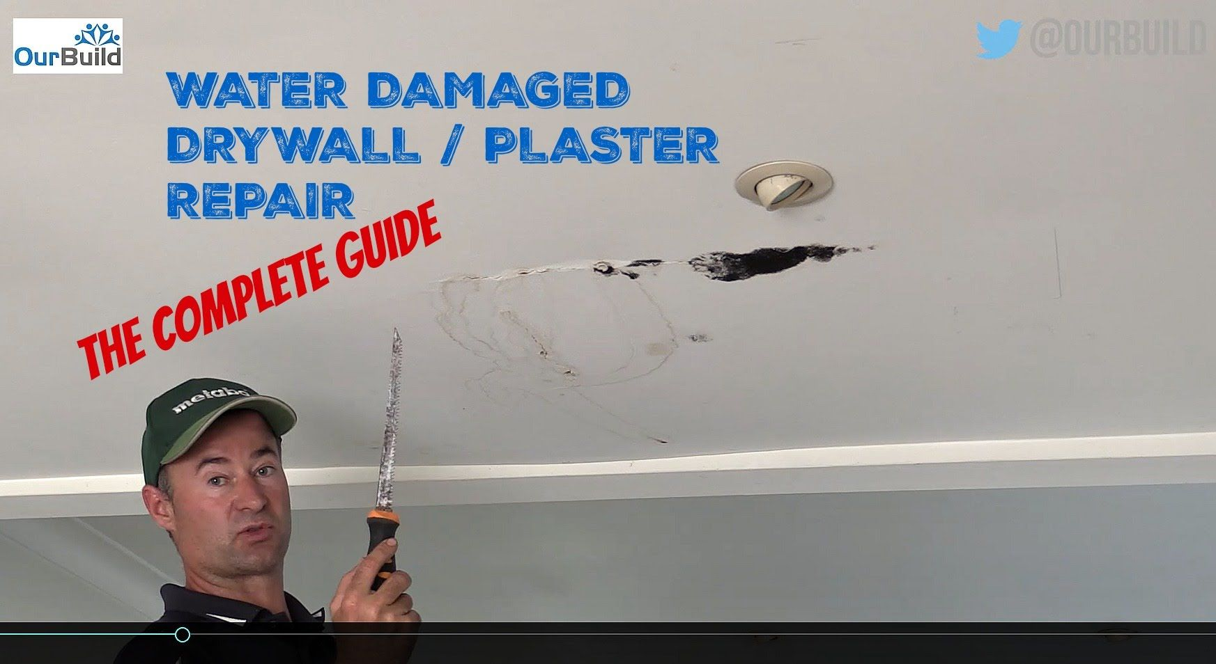 How To Repair a Water Damaged Plasterboard / Drywall