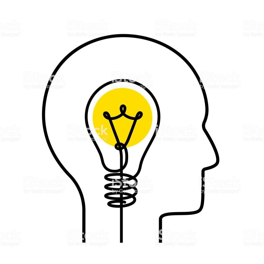 Continuous one line drawing light bulb symbol idea concept